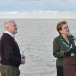 "Mayor Summers and Marcy Kaptur. ""We see these steps as a pivotal step in increasing access to green space, without changing the footprint of the park,"" said Lakewood Mayor Michael Summers. ""This enhancement to our community's green space allows thousands to enjoy picturesque views of Lake Erie, our greatest natural resource."""