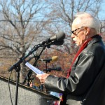 Bill Knittel, the city's poet laureate, read a special poem.
