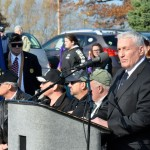 Mayor Mike Summers began the Veterans Day Ceremony with opening remarks.