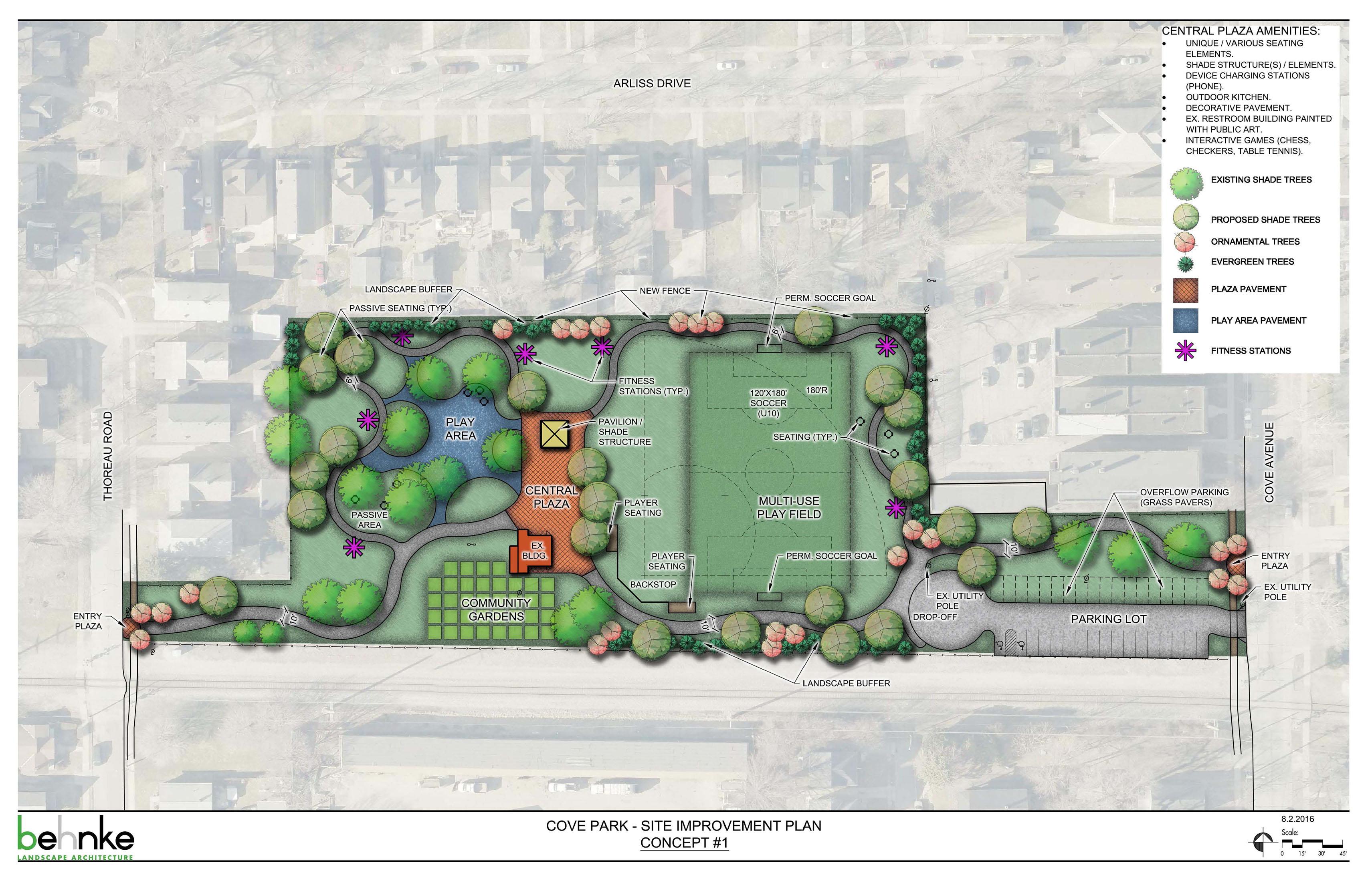 Cove Park Concept 1