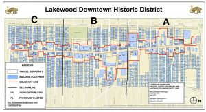 Downtown Lakweood Historic District Map